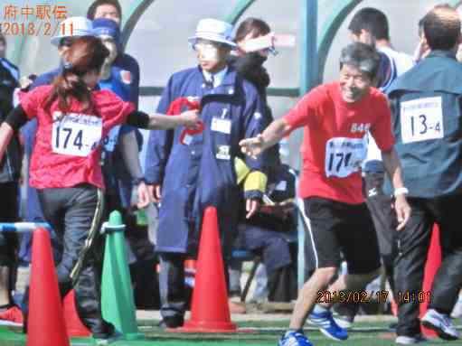 府中多摩川べりのマラソン